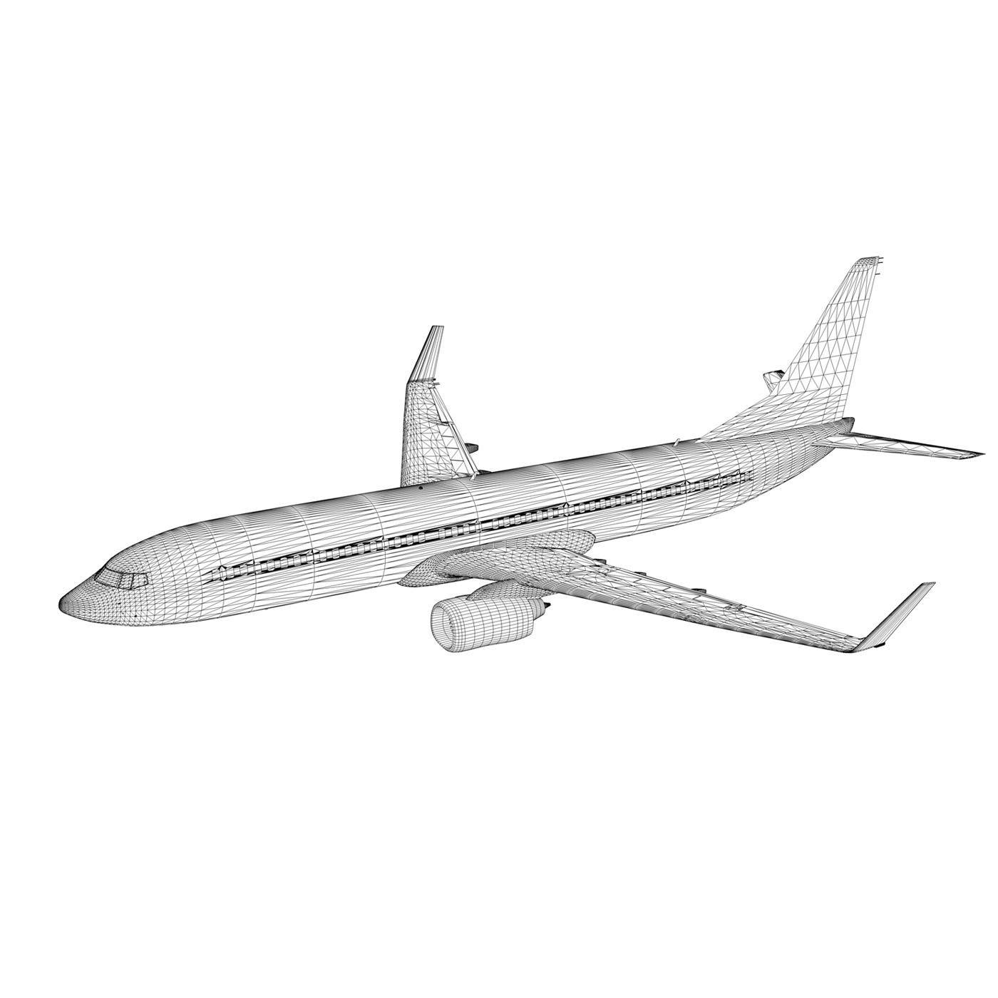 boeing 737-800 goldbair 3d model 3ds fbx c4d lwo obj 293508