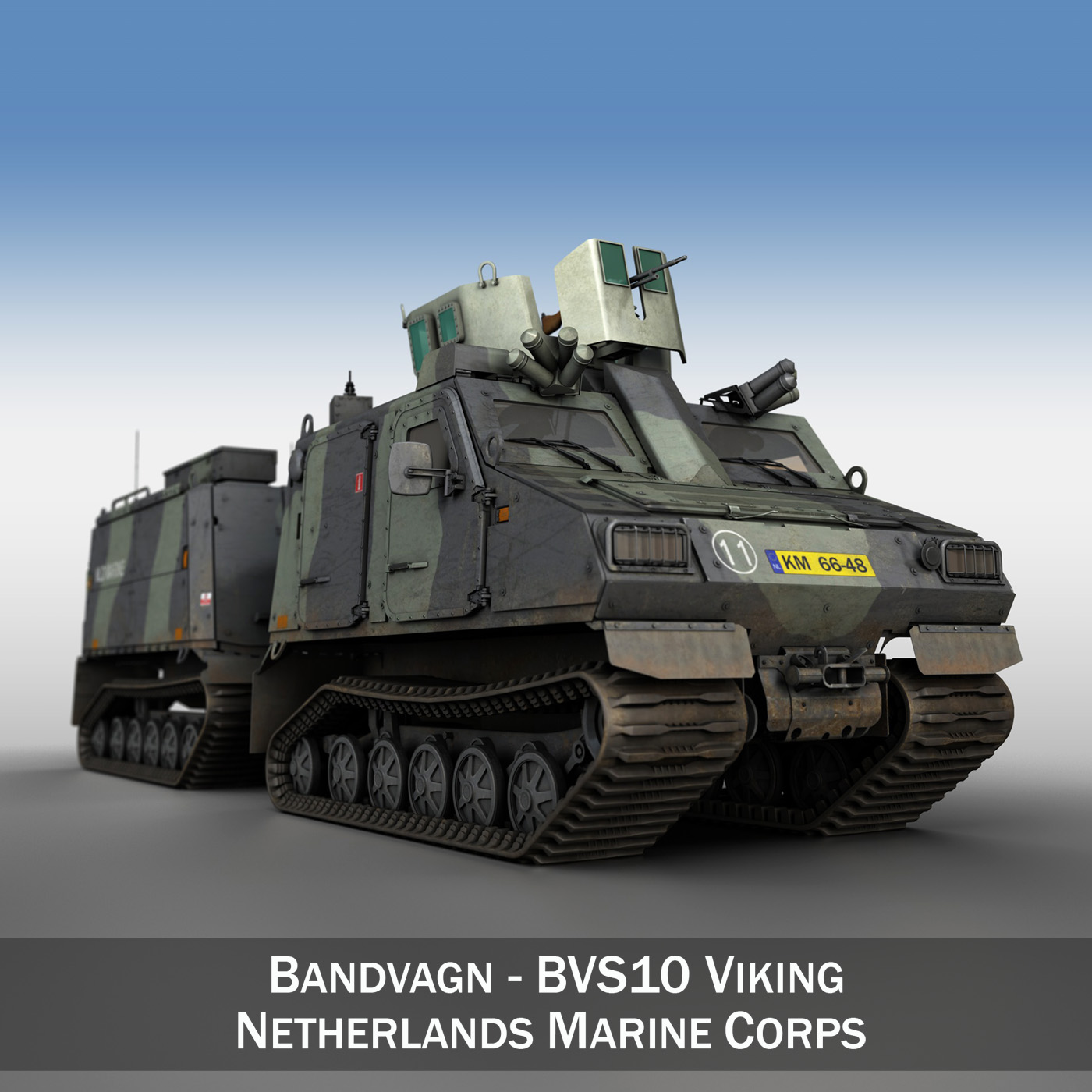 BVS10 Viking - Netherlands Marine Corps 3d model 3ds c4d lwo obj 293515