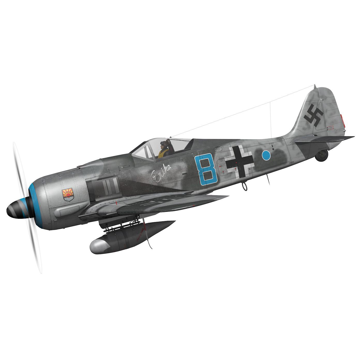 focke wulf – fw190 a8 – blue 8 3d model 3ds fbx c4d lwo obj 293543