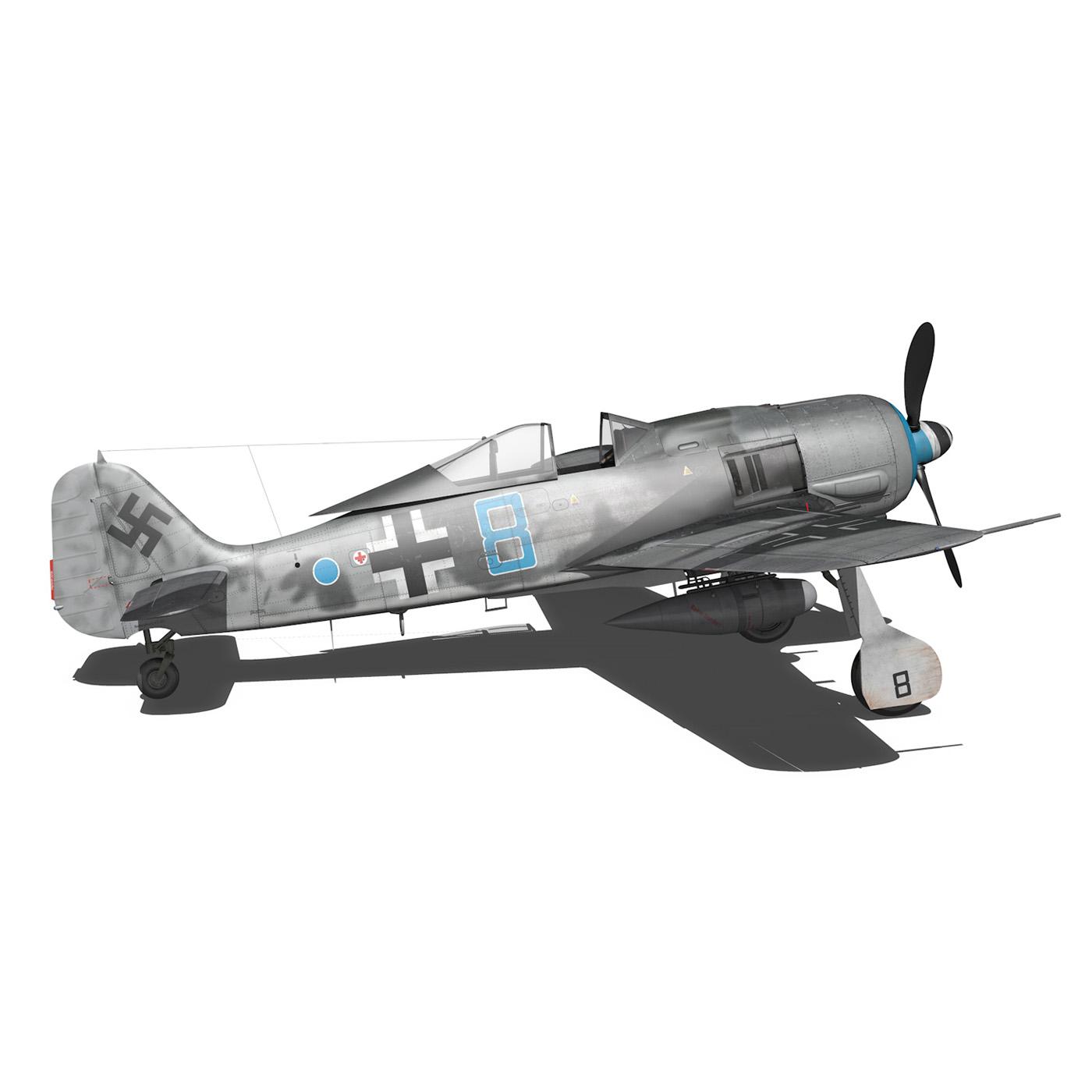 focke wulf – fw190 a8 – blue 8 3d model 3ds fbx c4d lwo obj 293555