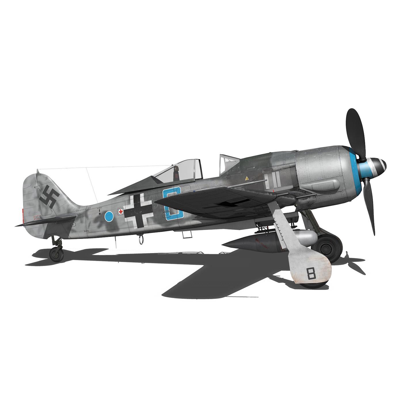 focke wulf – fw190 a8 – blue 8 3d model 3ds fbx c4d lwo obj 293556
