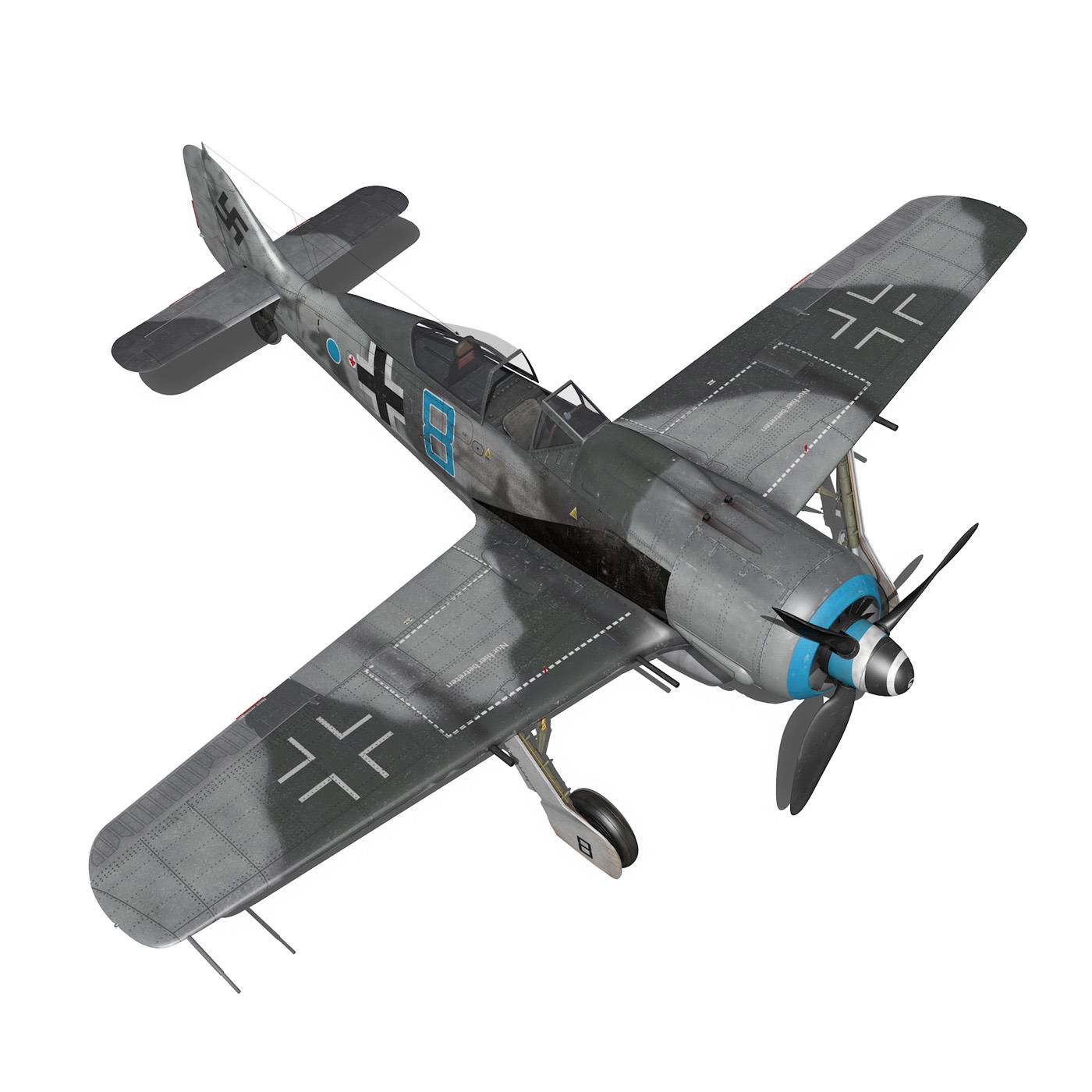 focke wulf – fw190 a8 – blue 8 3d model 3ds fbx c4d lwo obj 293558