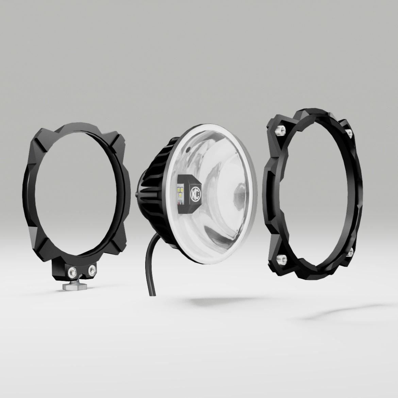 off road fog light 2 3d model 3ds max fbx blend c4d ma mb obj 293626