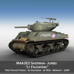 M4A3E2 - Sherman Jumbo - Lt Falgayrac 3d model 3ds fbx c4d lwo lws lw obj 293645