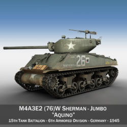 M4A3E2 - Sherman Jumbo - Aquino 3d model 3ds fbx c4d lwo lws lw obj 293664