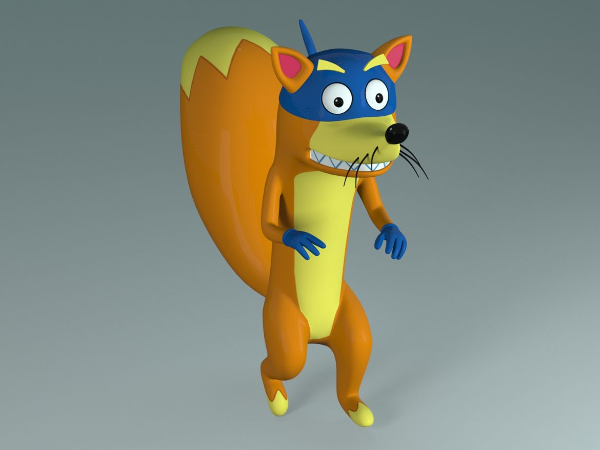 swiper the fox 3d model max fbx c4d jpeg jpg lxo  obj 293704