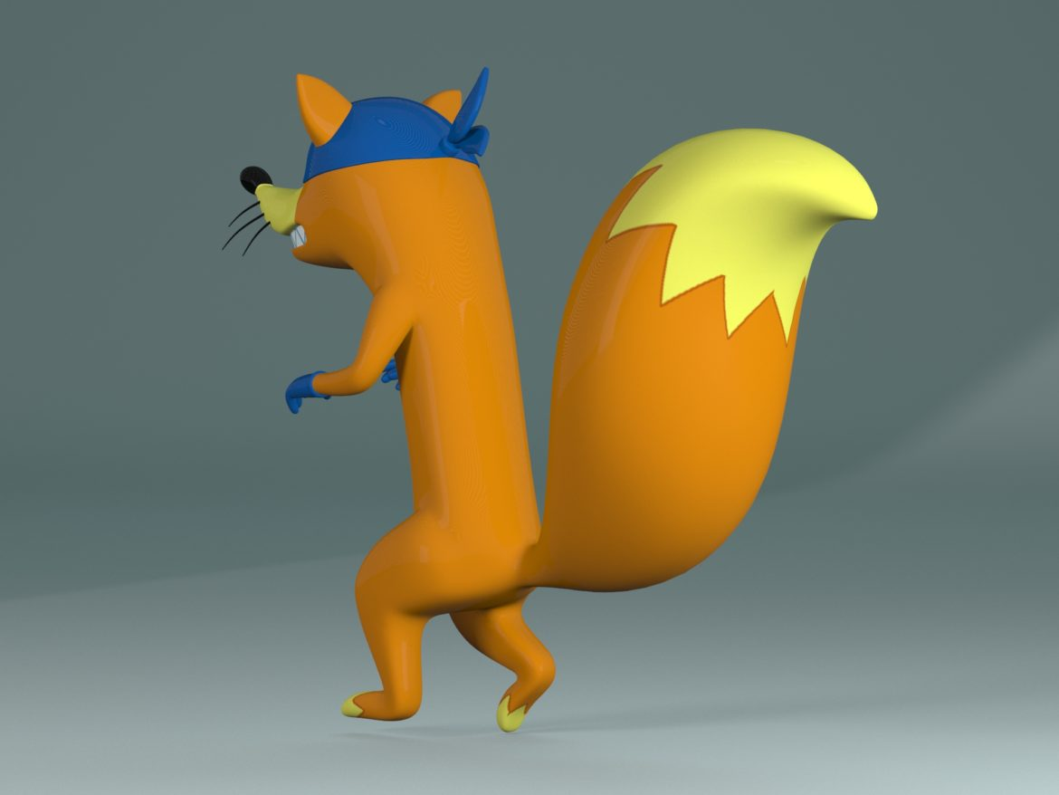 swiper the fox 3d model max fbx c4d jpeg jpg lxo  obj 293706