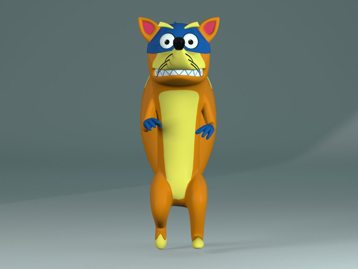 swiper the fox 3d model max fbx c4d jpeg jpg lxo  obj 293707