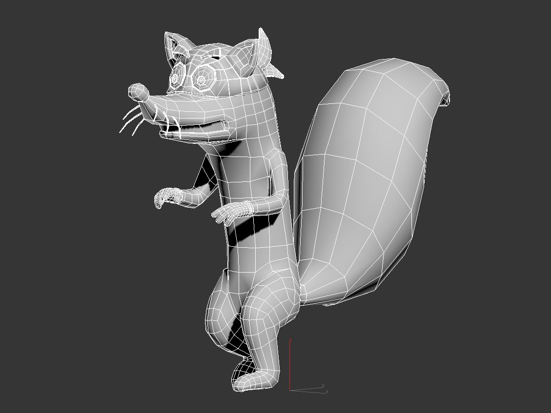 swiper the fox 3d model max fbx c4d jpeg jpg lxo  obj 293708
