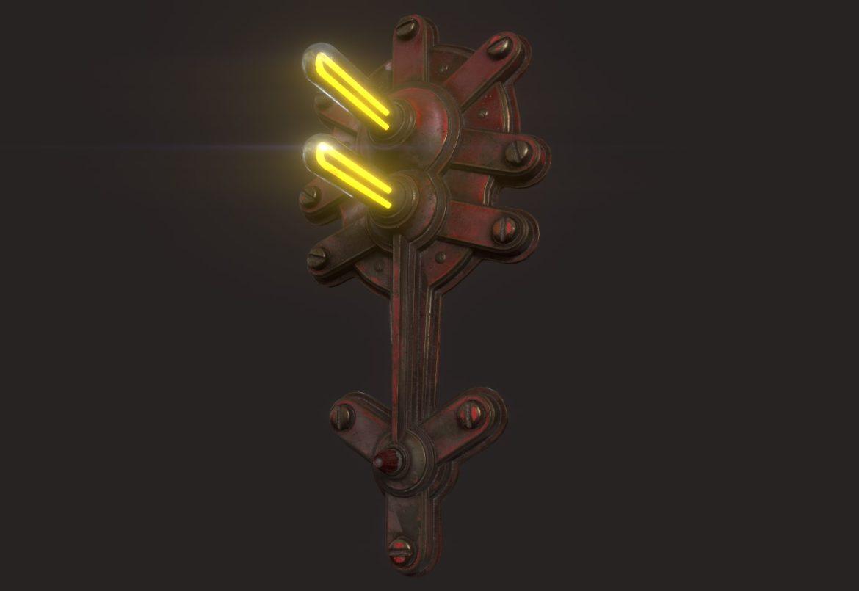steampunk lamp 02 3d model 3ds max fbx obj 293716