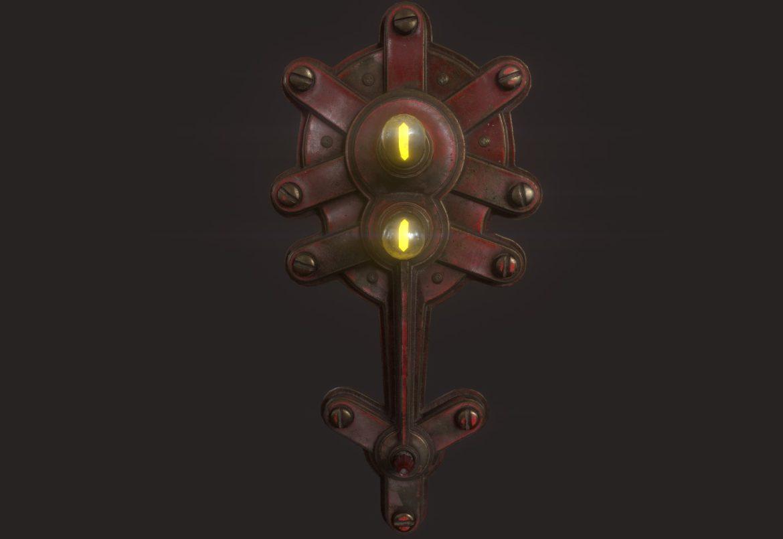 steampunk lamp 02 3d model 3ds max fbx obj 293719