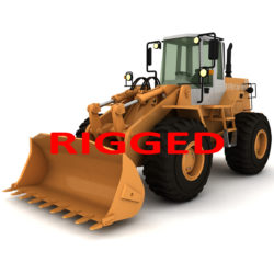 rigged fiat-allis loader fr 130 3d model obj 293784