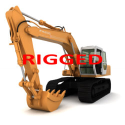 rigged fiat hitachi excavator fh200 3d model 3ds max fbx obj 293795