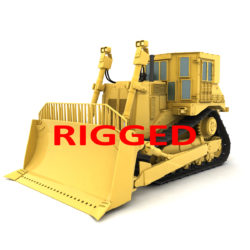 rigged bulldozer 3d model 3ds max fbx obj 293811