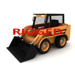rigged bobcat – skid steer loader 3d model 3ds max fbx obj 293850