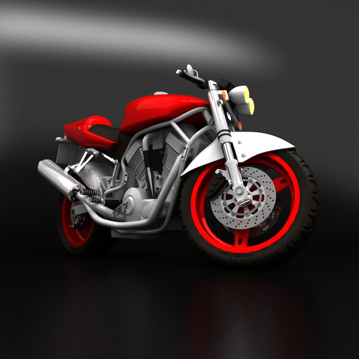 suzuki street fighter motorcycle 3d model 3ds max fbx obj 293867