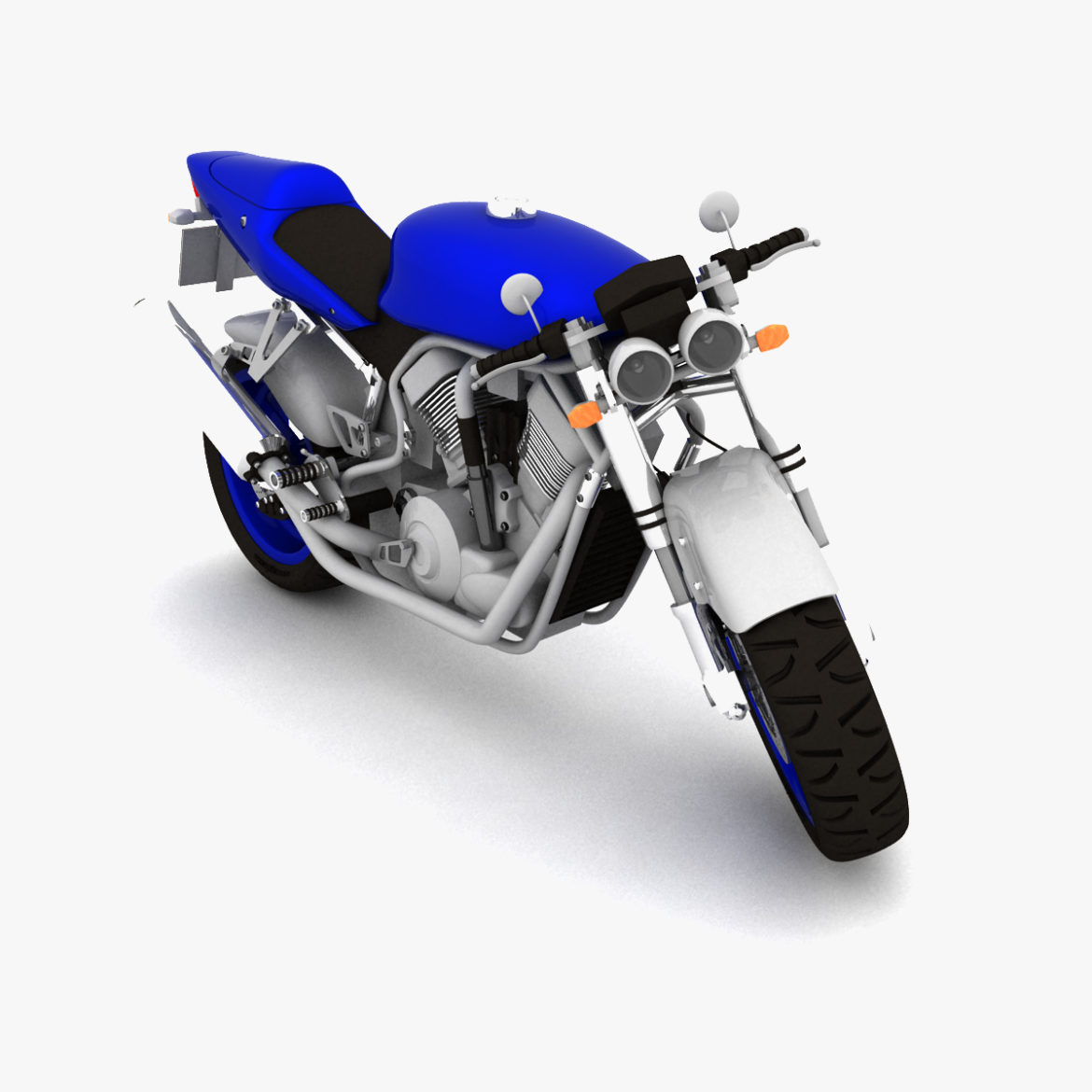 suzuki street fighter motorcycle 3d model 3ds max fbx obj 293869