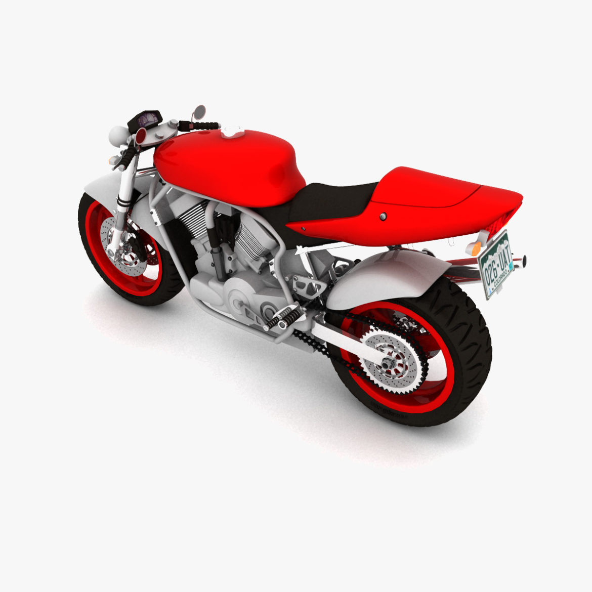 suzuki street fighter motorcycle 3d model 3ds max fbx obj 293870