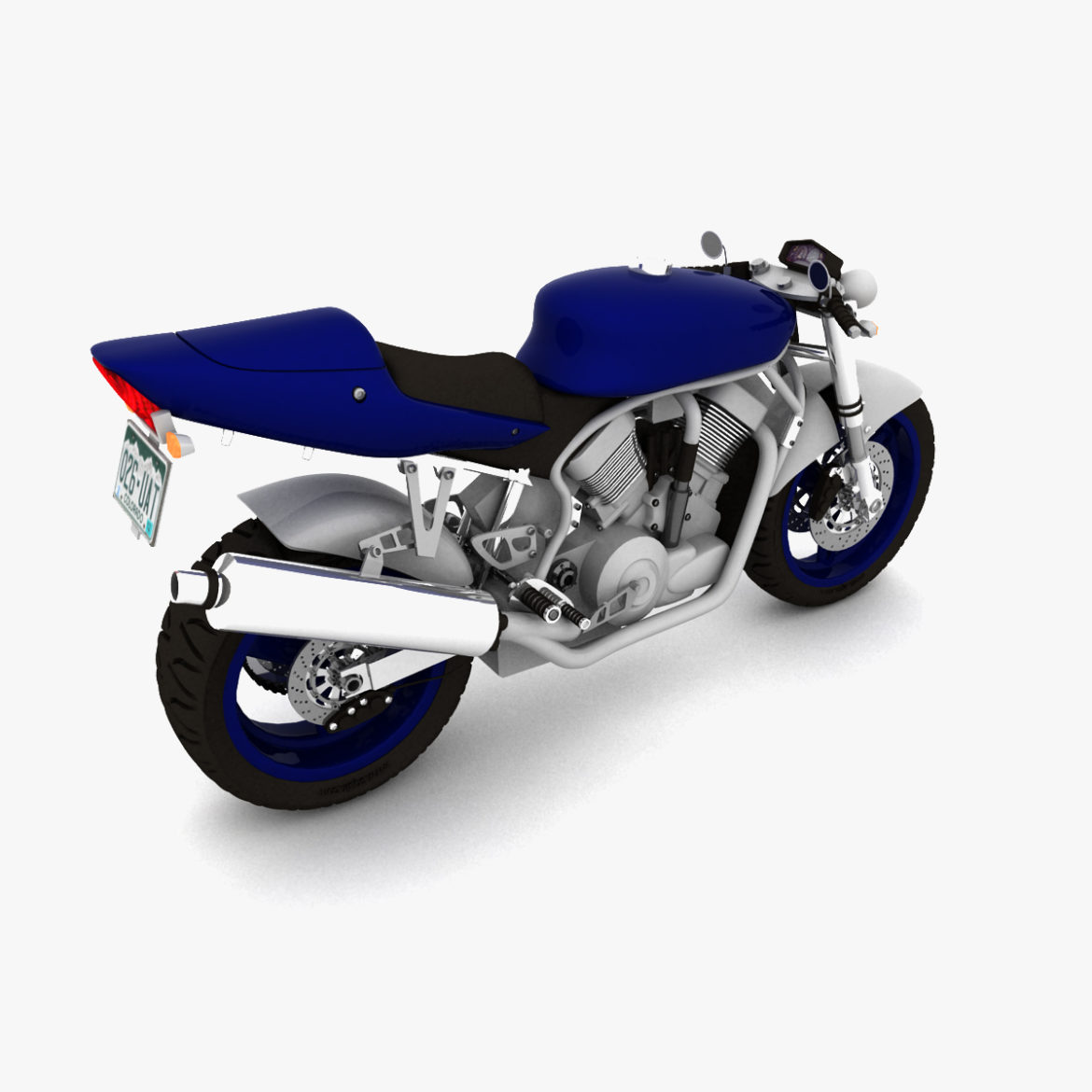 suzuki street fighter motorcycle 3d model 3ds max fbx obj 293871