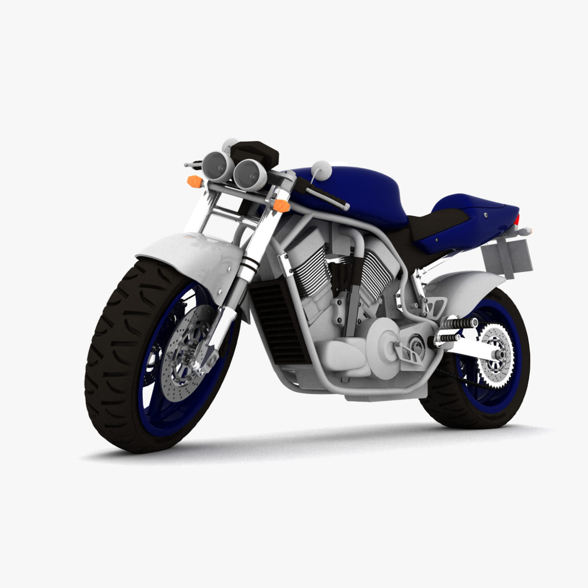 suzuki street fighter motorcycle 3d model 3ds max fbx obj 293872