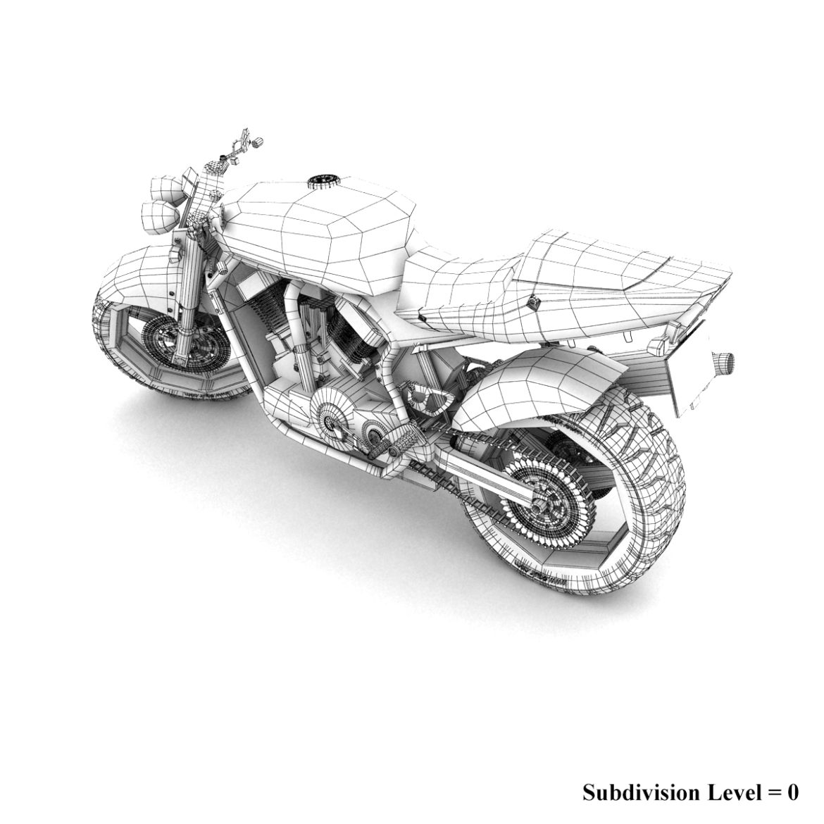 suzuki street fighter motorcycle 3d model 3ds max fbx obj 293874
