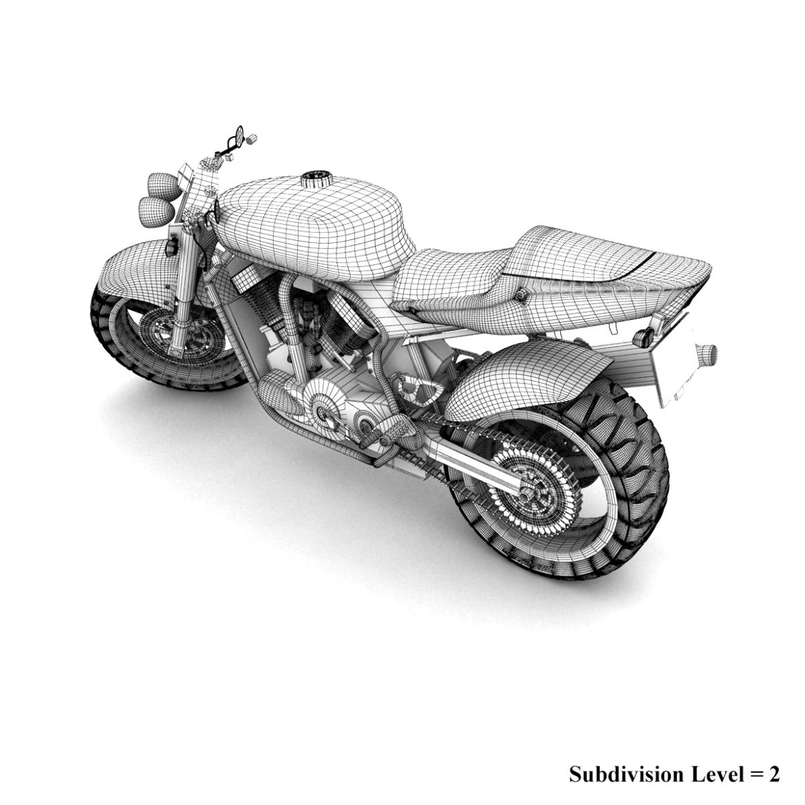 suzuki street fighter motorcycle 3d model 3ds max fbx obj 293875
