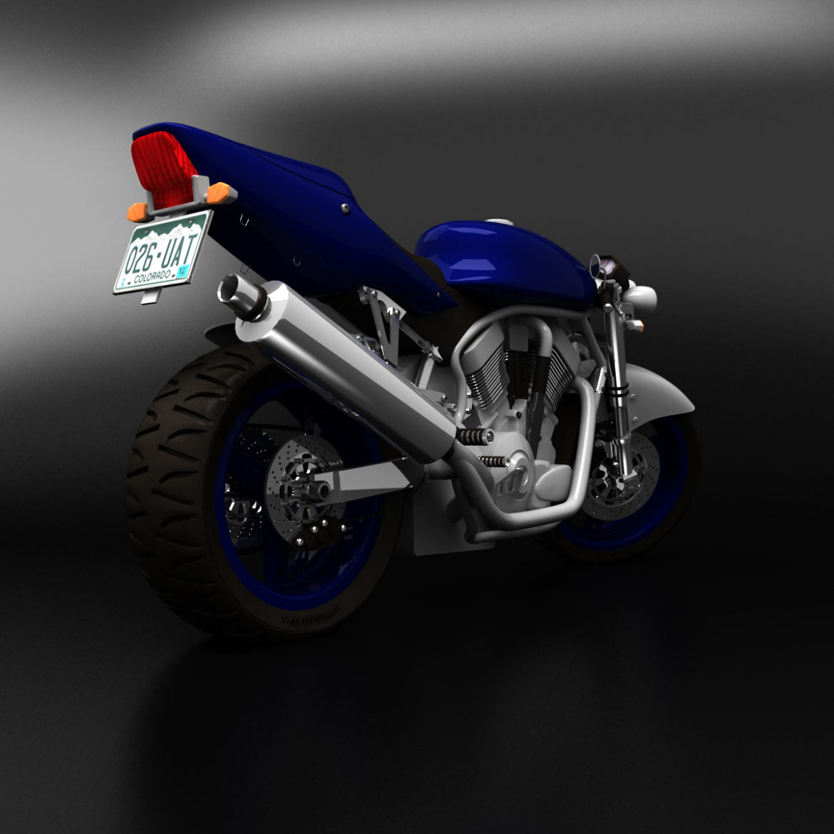 suzuki street fighter motorcycle 3d model 3ds max fbx obj 293876