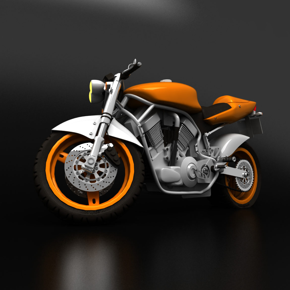 suzuki street fighter motorcycle 3d model 3ds max fbx obj 293877