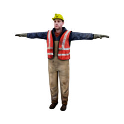 Male worker 3d model 3ds max fbx obj 293884