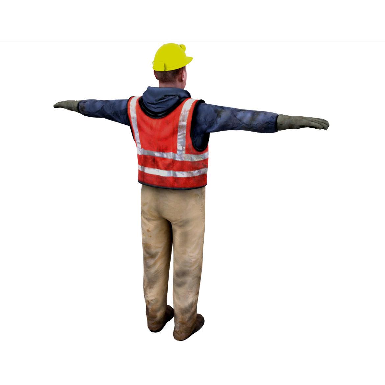 male worker 3d model 3ds max fbx obj 293885