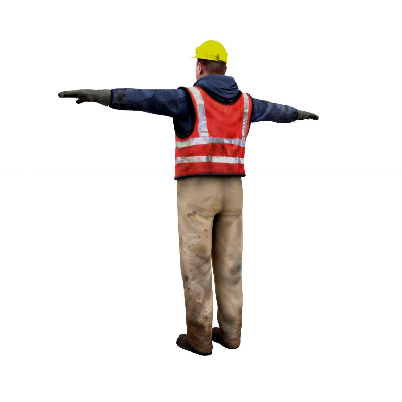 male worker 3d model 3ds max fbx obj 293886