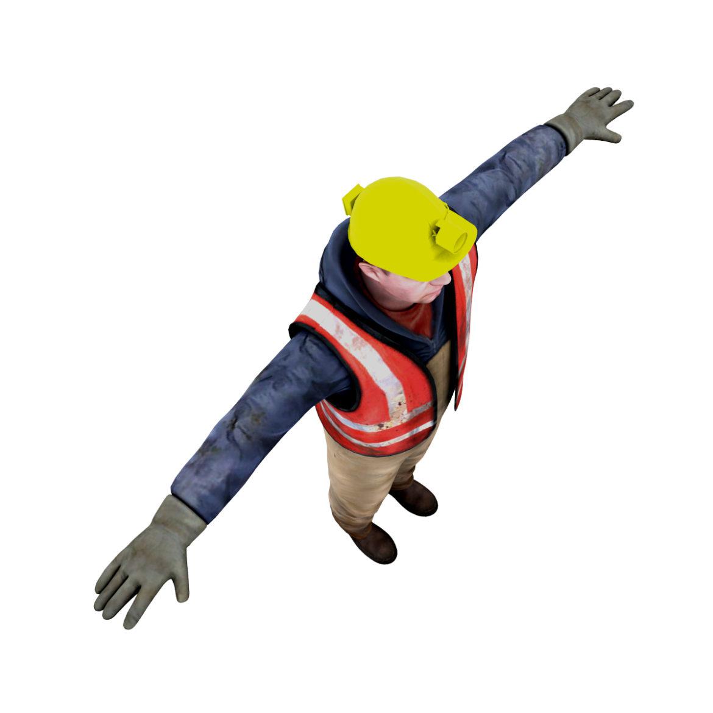 male worker 3d model 3ds max fbx obj 293887