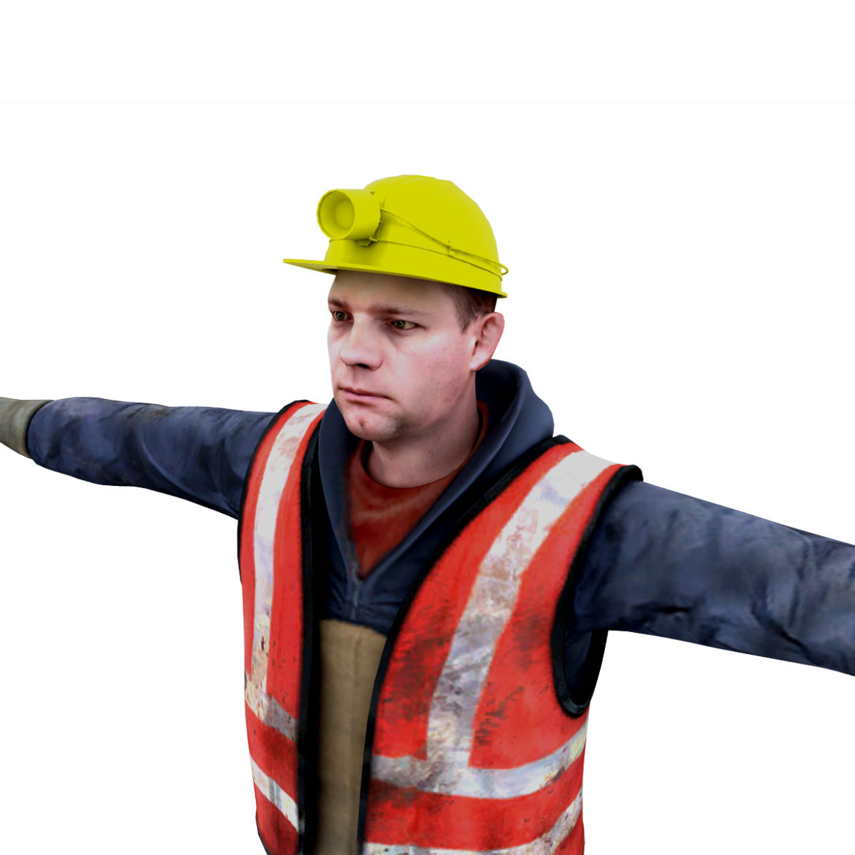 male worker 3d model 3ds max fbx obj 293888
