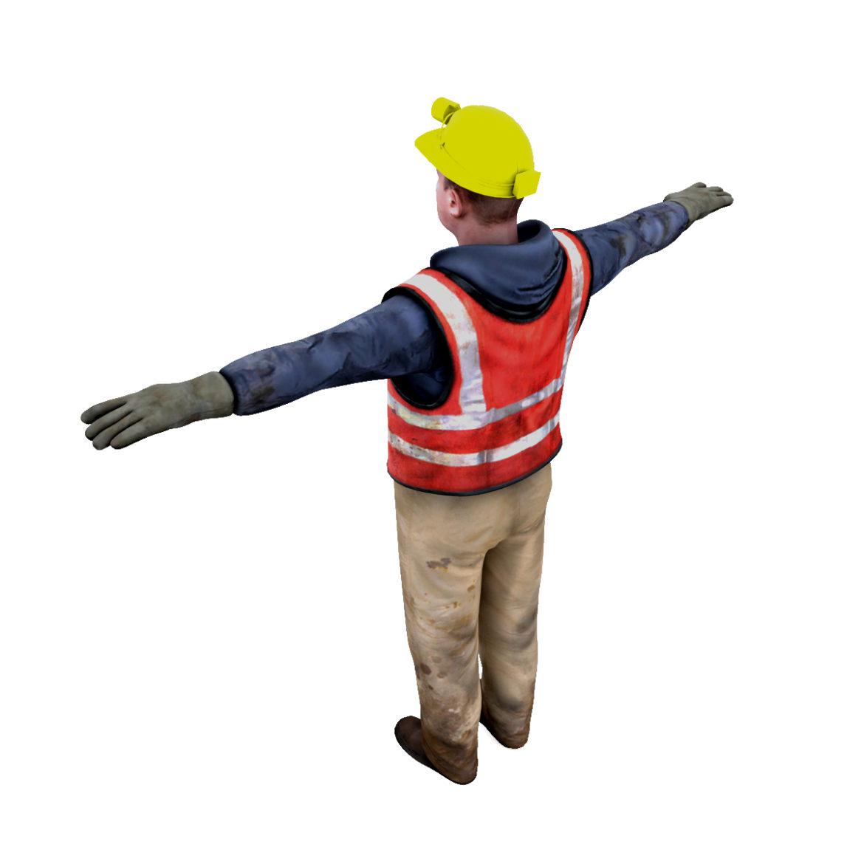 male worker 3d model 3ds max fbx obj 293889