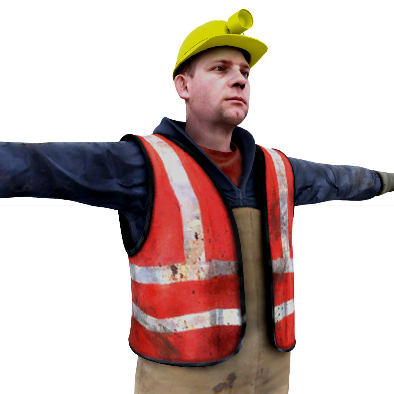 male worker 3d model 3ds max fbx obj 293890