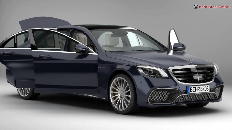mercedes s class amg s65 2018 3d model 3ds max fbx c4d lwo ma mb obj 293970