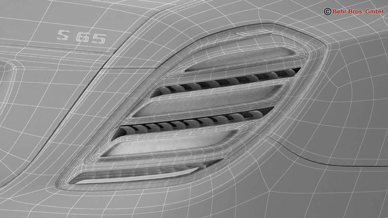 mercedes s class amg s65 2018 3d model 3ds max fbx c4d lwo ma mb obj 293993