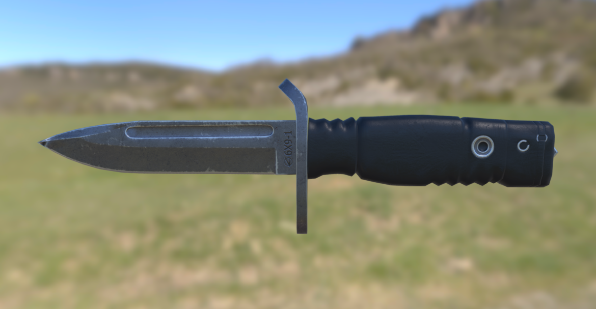 russian combat knife 6x9-1 3d model 3ds fbx blend obj 294138