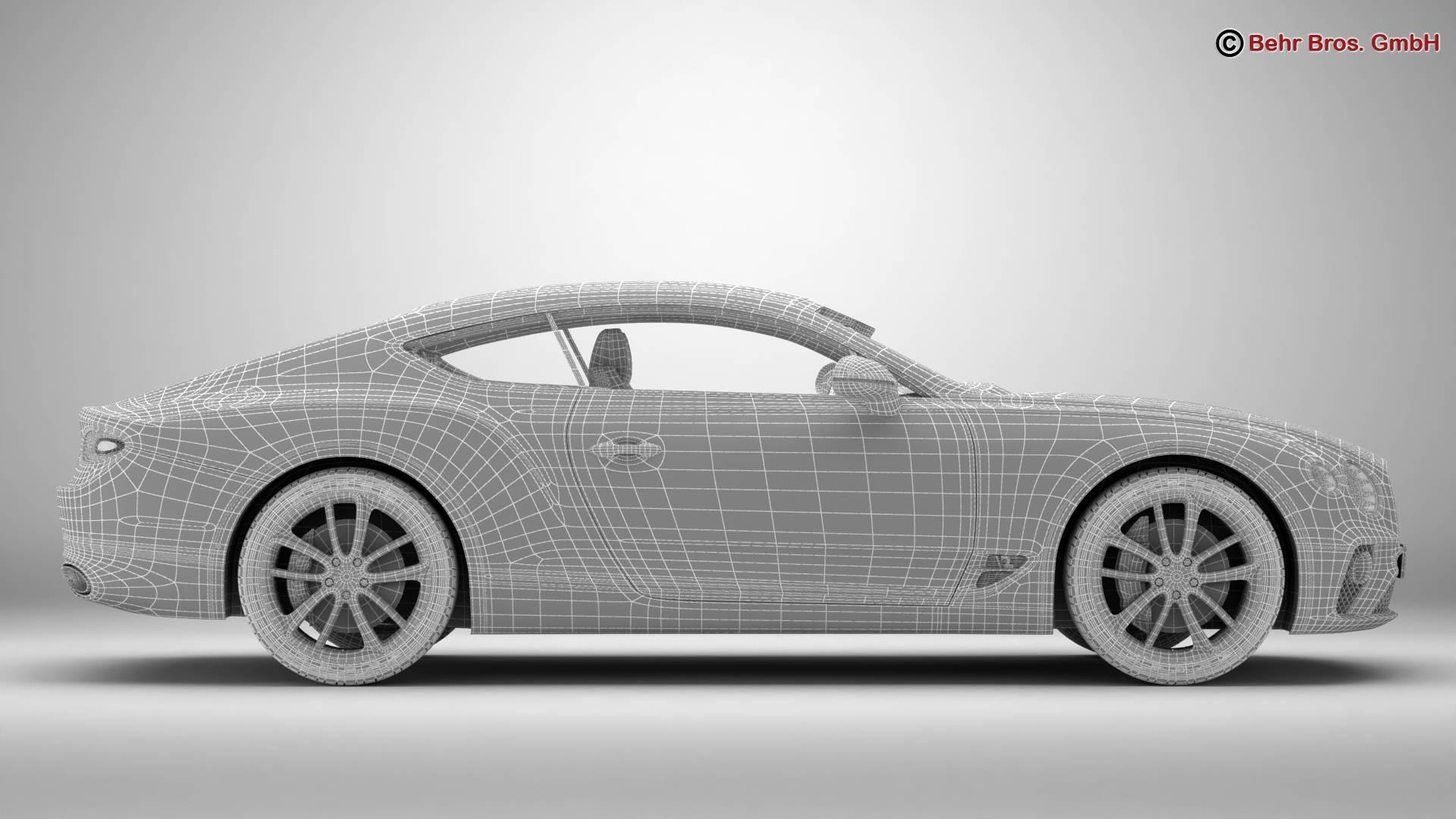 Bentley Continental GT 2018 3D Model