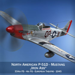 North American P-51D Mustang - Iron Ass 3d model fbx c4d lwo obj 294275