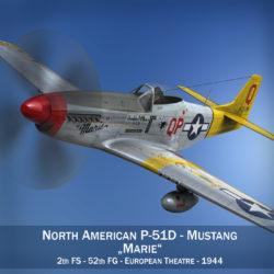 north american p-51d mustang – marie 3d model fbx c4d lwo obj 294298