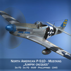 North American P-51D Mustang - Jumpin Jacques 3d model fbx c4d lwo obj 294322