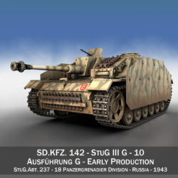 stug iii – ausf.g – 10 – early production 3d model 3ds c4d lwo obj 294347