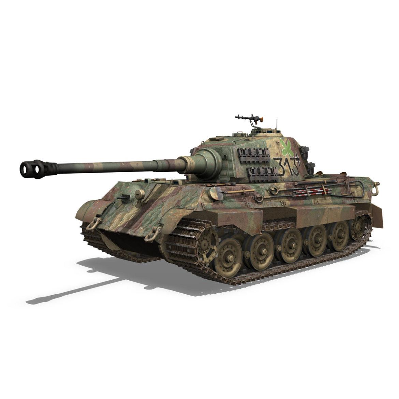 panzerkampfwagen vi – ausf b – tiger ii – 313 3d model 3ds c4d lwo obj 294551