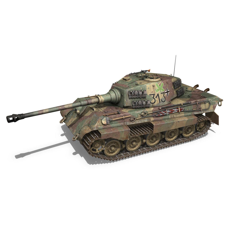 panzerkampfwagen vi – ausf b – tiger ii – 313 3d model 3ds c4d lwo obj 294552