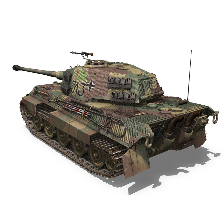 panzerkampfwagen vi – ausf b – tiger ii – 313 3d model 3ds c4d lwo obj 294553