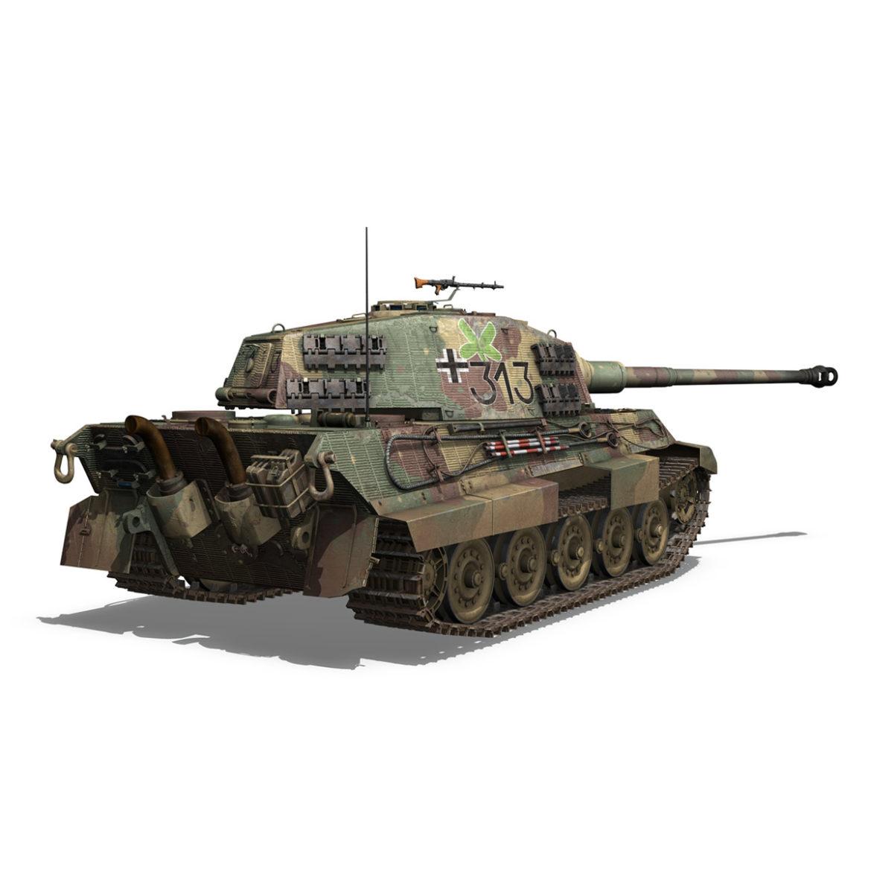 panzerkampfwagen vi – ausf b – tiger ii – 313 3d model 3ds c4d lwo obj 294554