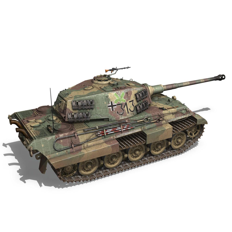 panzerkampfwagen vi – ausf b – tiger ii – 313 3d model 3ds c4d lwo obj 294555
