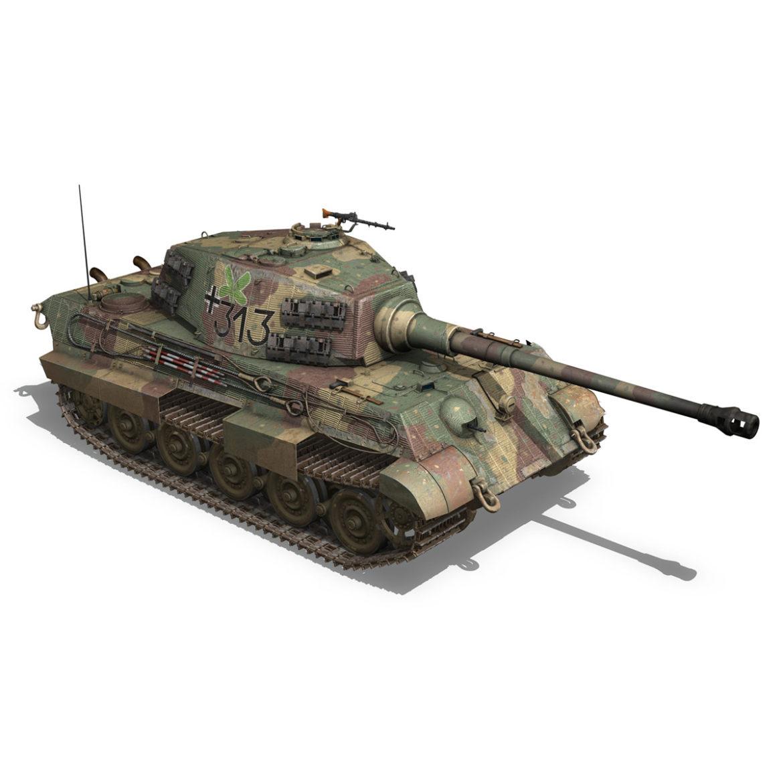 panzerkampfwagen vi – ausf b – tiger ii – 313 3d model 3ds c4d lwo obj 294556