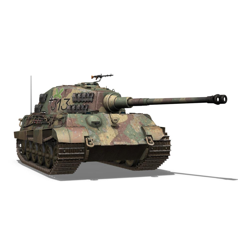 panzerkampfwagen vi – ausf b – tiger ii – 313 3d model 3ds c4d lwo obj 294557